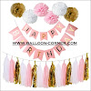 Contoh Dekorasi Pesta Ulang Tahun Tema Pink Minimalis