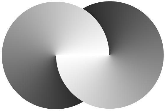 Membuat Logo Infinity Dengan Conical Fountain Fill Di