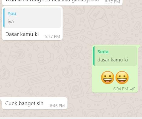 bosan chat bukan berarti bosan dengan orangnya