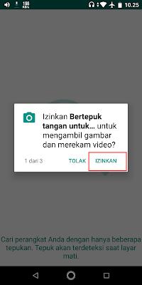 Bila ada permintaan perizinan, Sobat klik izinkan.