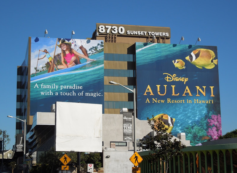 Disney Aulani Hawaii resort billboard