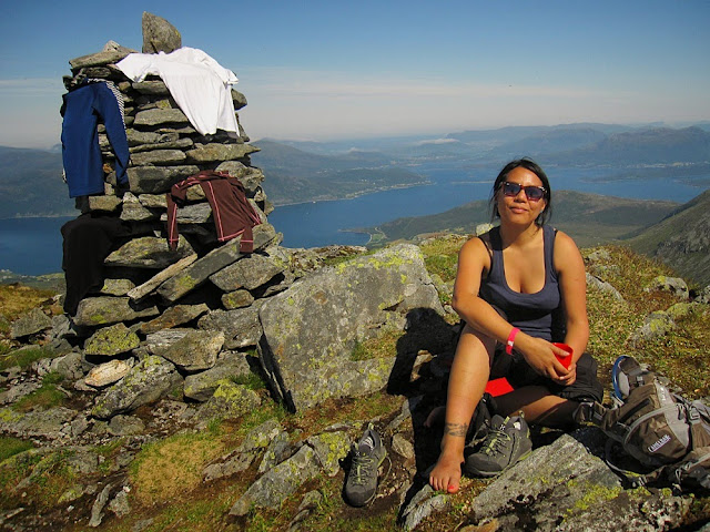 On the top of the mountain near Volda, Sunnmøre, Norway