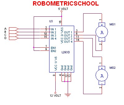 electronic circuit schematic dc motor driver using l293d. Black Bedroom Furniture Sets. Home Design Ideas
