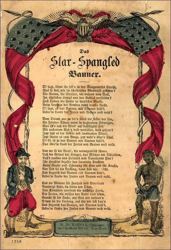 Text Amerikanische Nationalhymne