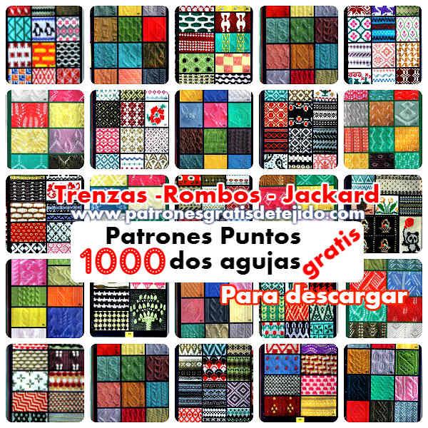 1000 Patrones para Tejer en Dos Agujas | Crochet y Dos agujas ...