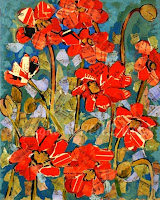 Poppy Don't Preach, Original Floral Art by Miriam Schulman