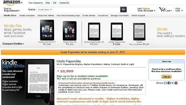 Amazons Kindle Paperwhite and Kindle Fire HD will be available to Indians on June 27th