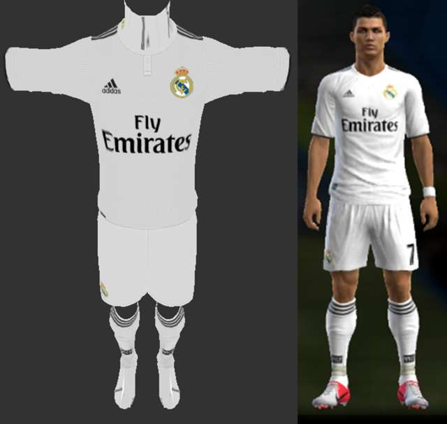 Real Madrid 2018-19 Home Kit PES 2013