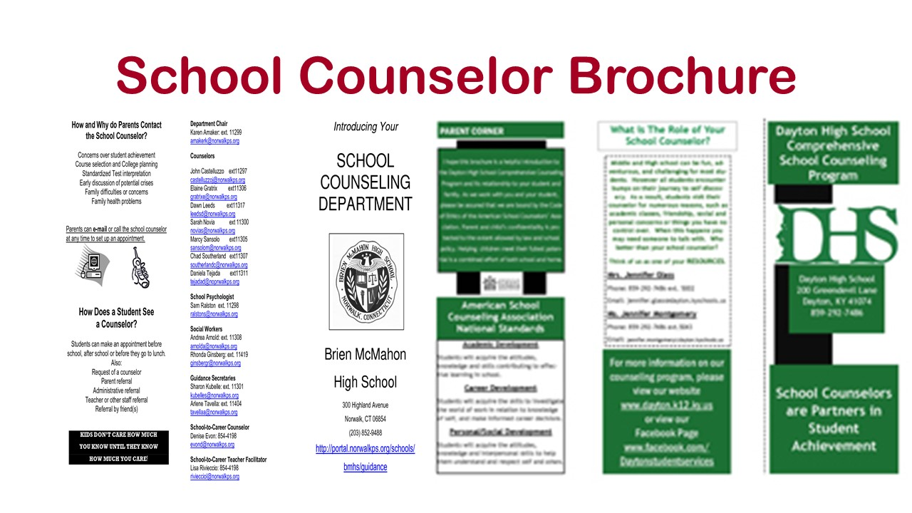 school counselor Gone are the days of school counselors sitting in their office simply handing out  college applications, making schedule changes for students who want to drop a.