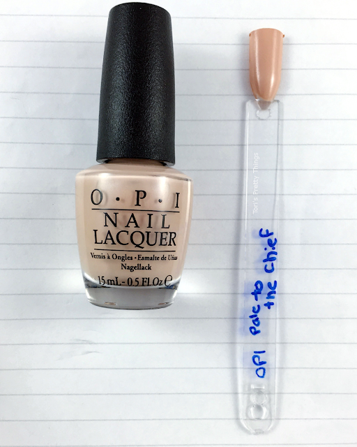 Tori's Pretty Things// OPI Pale to the Chief Swatch
