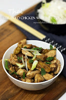 Пиле с бейби царевички по тайландски