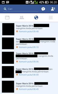 Cara Menghilangkan Notifikasi Super Mario 2016 di Facebook