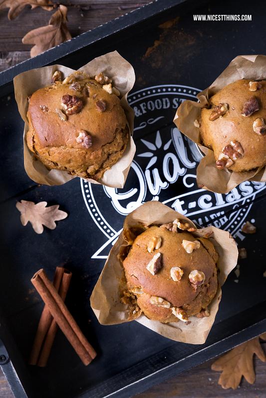 Pumpkin Spice Muffins Rezept mit Kürbis und Kichererbsen