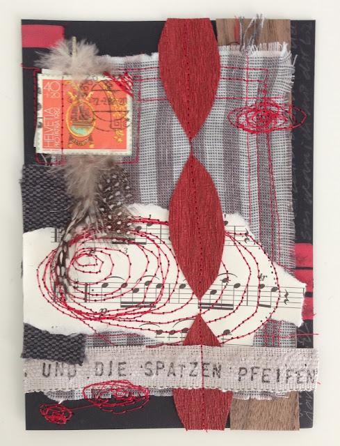 mit Strich und Faden: herbstliche Postkarte Collage