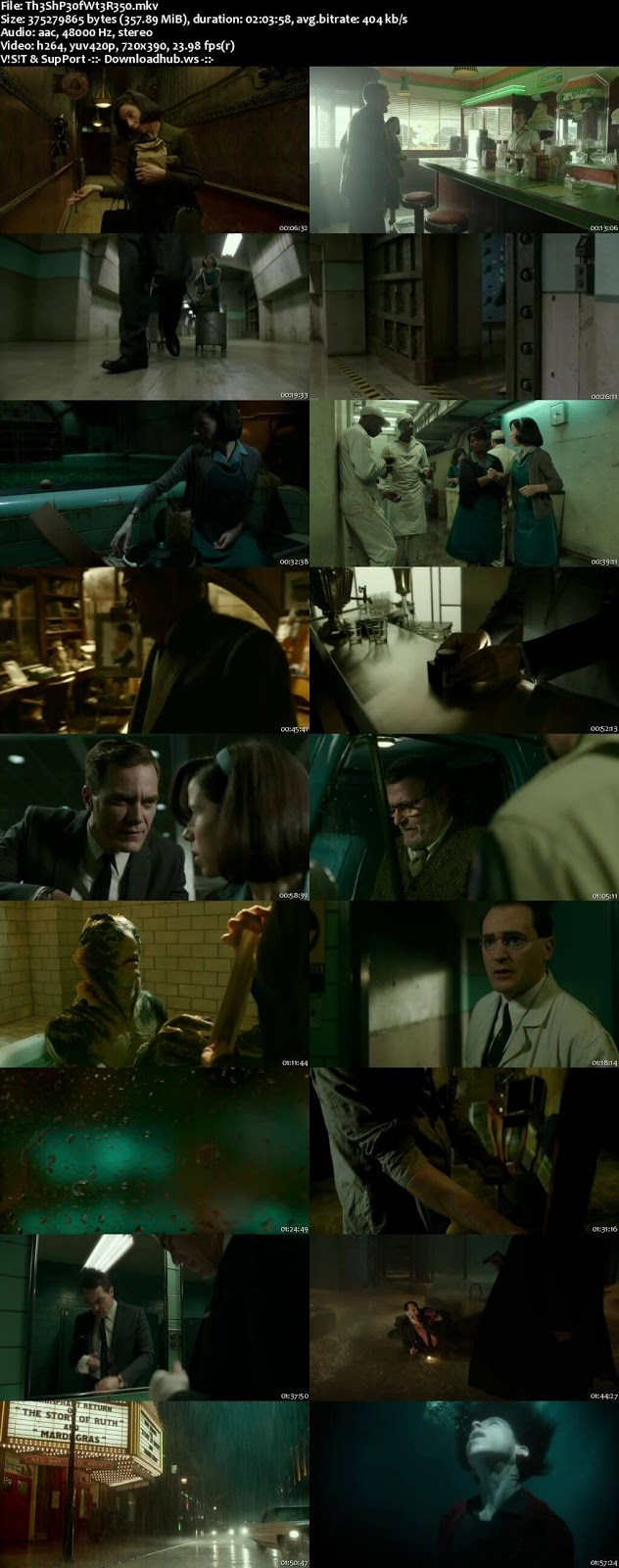 The Shape of Water 2017 English 480p Web-DL ESubs