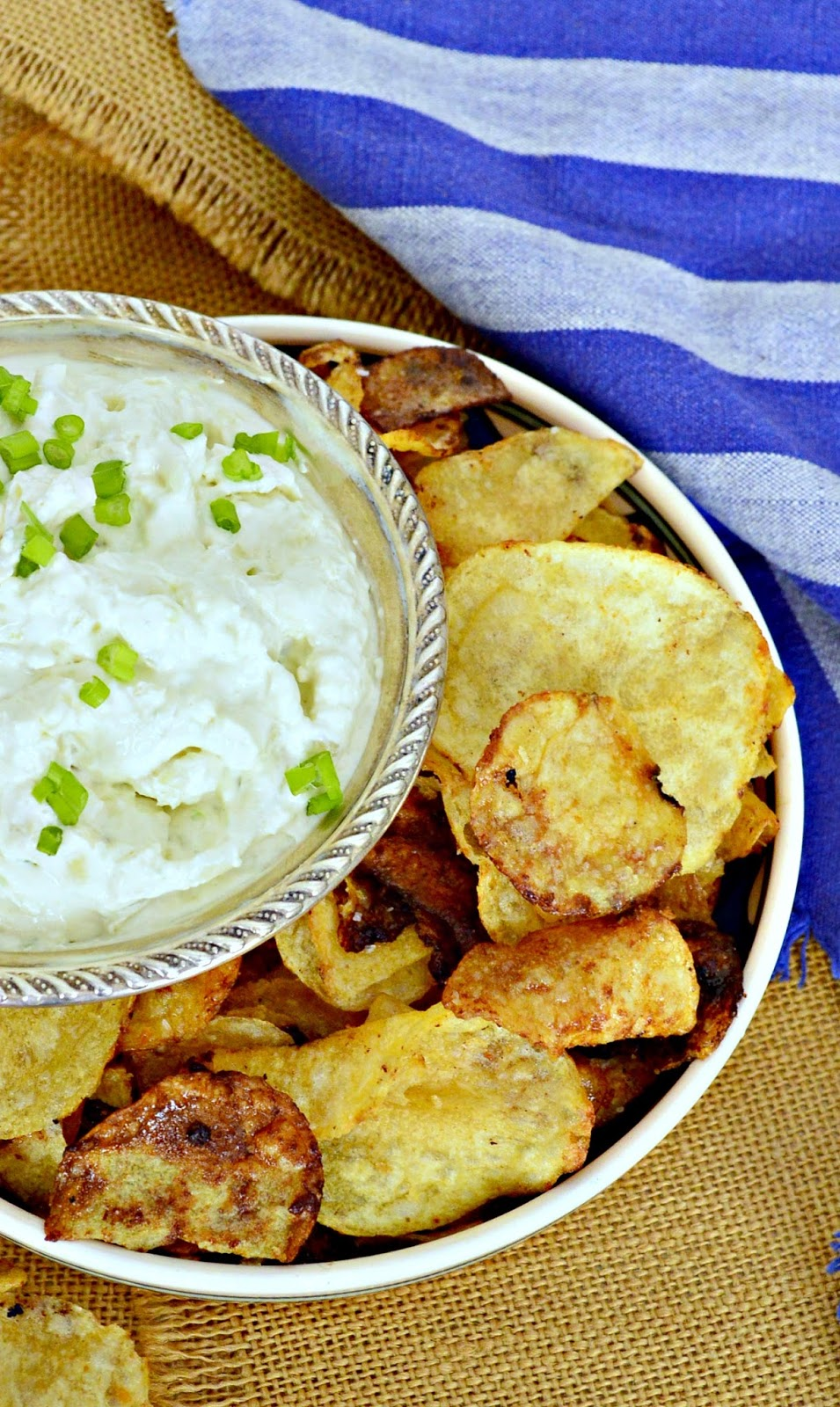 Beer and Honey Potato Chips made with store bought kettle chips are out of this world! Serve with my favorite onion dip and you have my favorite junk food. #potato chips #onion dip www.thisishowicook.com