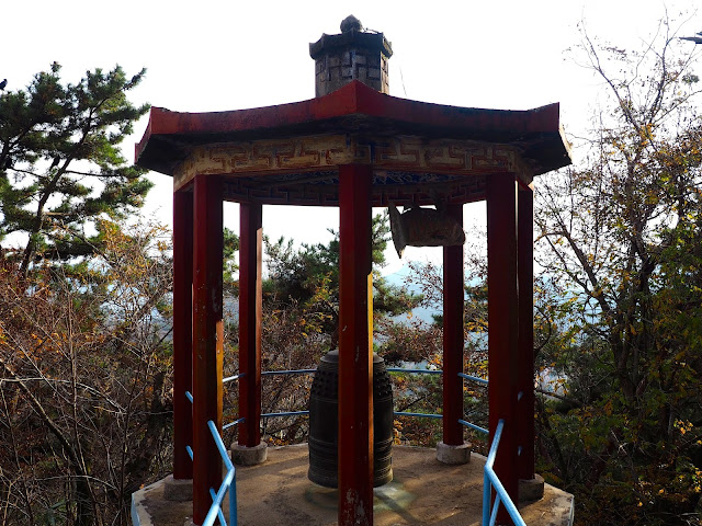 Bell tower at Seokbulsa Temple on Geumjeongsan Mountain, Busan, South Korea
