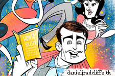 "Updated: Squigs caricature of Daniel Radcliffe and ""How to Succeed"" cast"