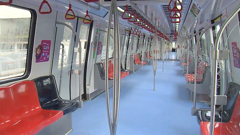 Train cars for the line will feature five doors on each side - instead of four on other MRT trains - to facilitate quicker boarding and alighting.