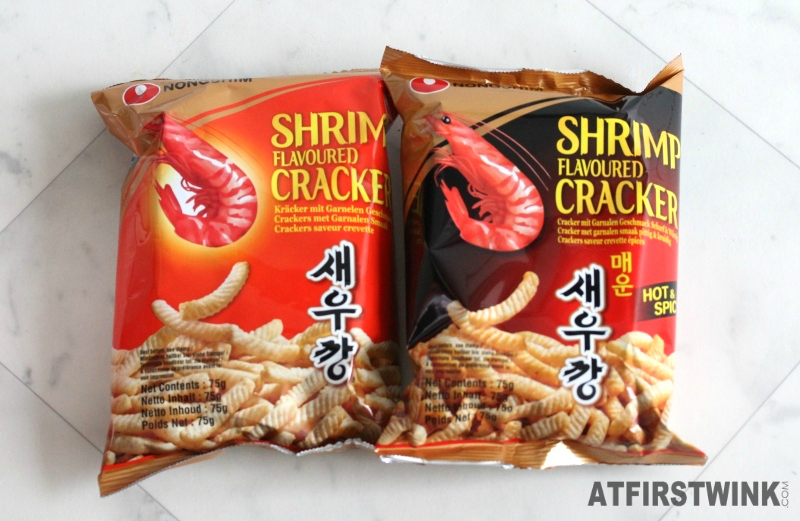 Nongshim shrimp flavoured crackers original hot and spicy xenos