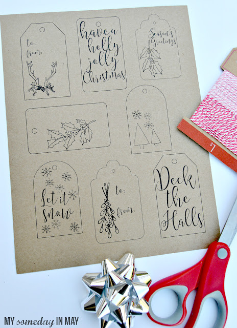 http://www.ellaclaireinspired.com/free-printable-christmas-gift-tags/