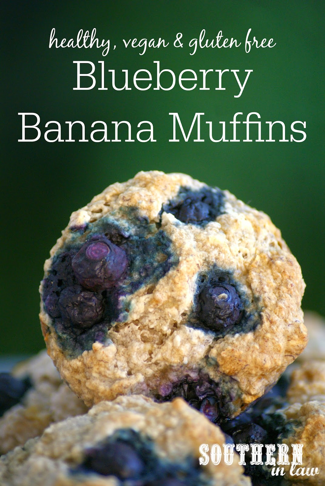 Healthy Blueberry Banana Muffin Recipe  gluten free, vegan, low fat, refined sugar free, clean eating friendly