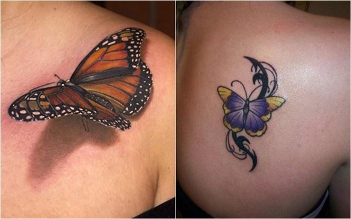 Die 15 Neuesten 3d Schmetterling Tattoo Designs