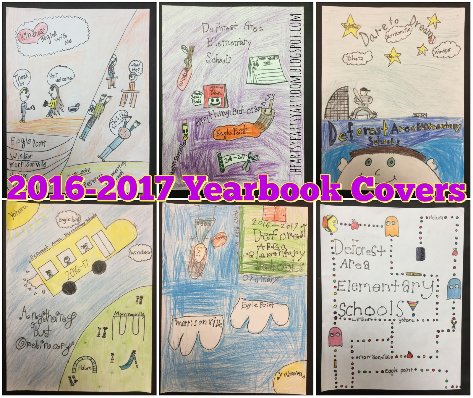 Book Cover Ideas For School Kids : The artsy fartsy art room yearbook covers