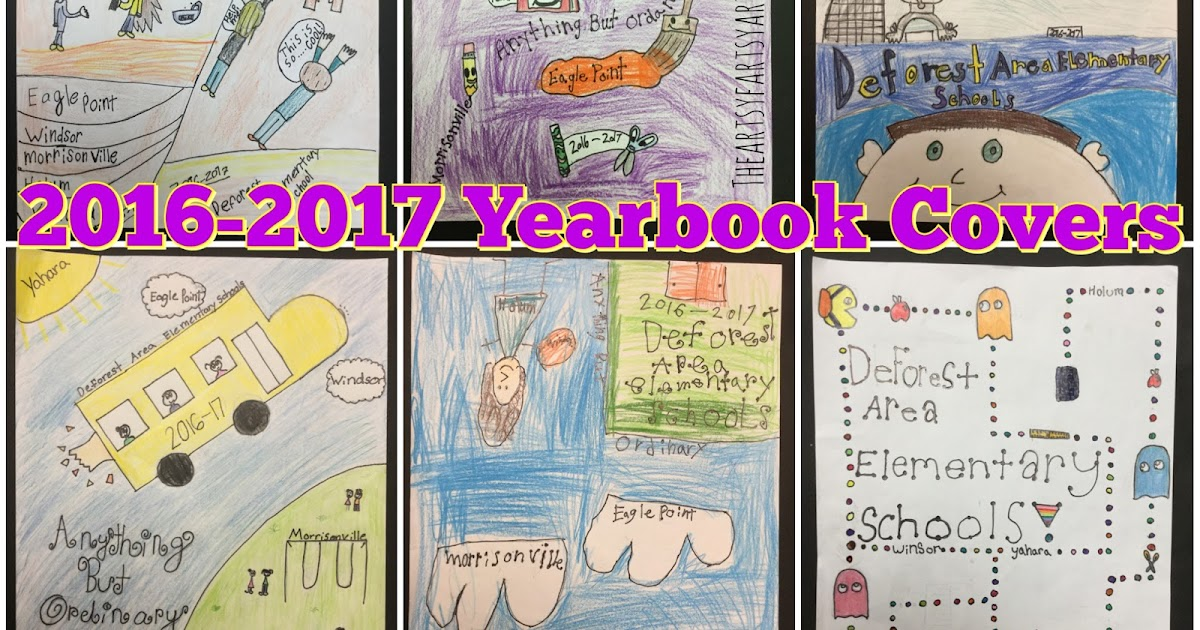 the artsy fartsy art room 2016 yearbook covers