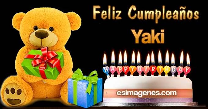 Feliz Cumpleaños Yaki