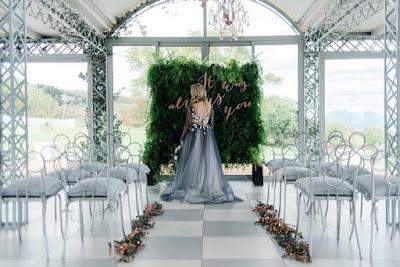 decoration mariage boheme mur vegetal