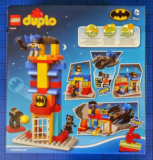 LEGO DUPLO Batcave Adventure set review rear of pack shot
