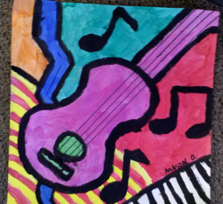 Art With Mrs Smith Jazzy Guitars Grades 5 6