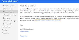 alias correo Outlook