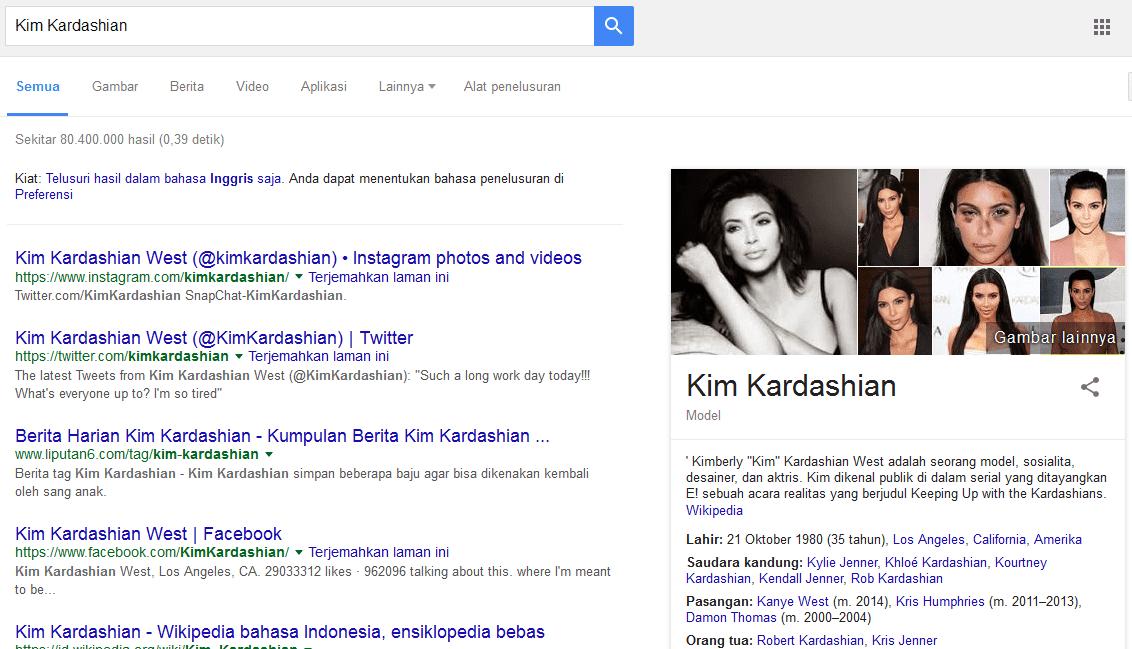 pencarian dengan kata kunci Kim Kardashian