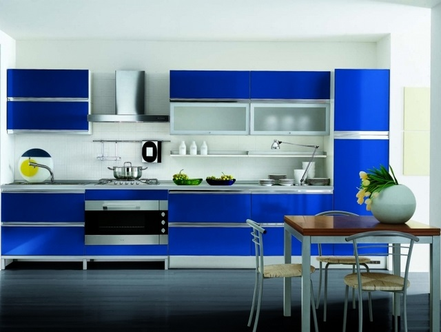 Cocinas de color azul cocina y reposteros decoraci n - Cocina de color ...