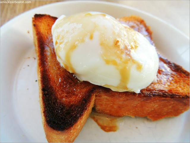 Samovar Tea Lounge: Poached Eggs Toast $6
