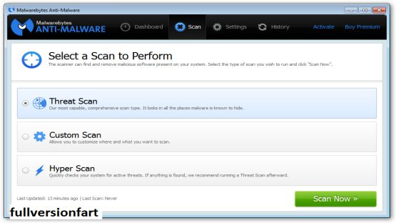 Malwarebytes Anti-Malware 2.2.1 Screenshot 3