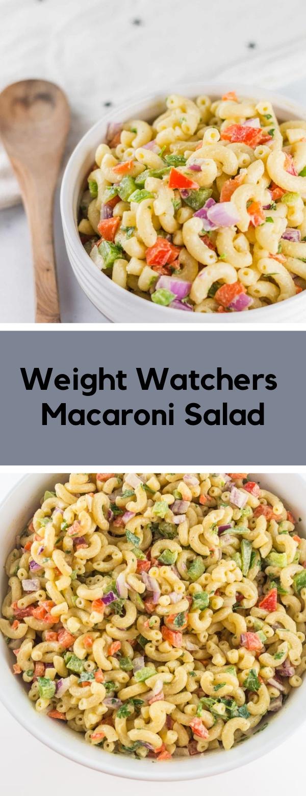Weight Watchers Macaroni Salad #salad #macaroni #weightwatchers #zeropoint