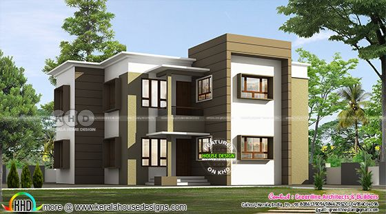 2000 sq-ft 4 bedroom, ₹30 lakh budget Kerala home