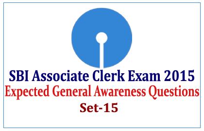 Expected GK Questions for SBI Associate Clerk Exam
