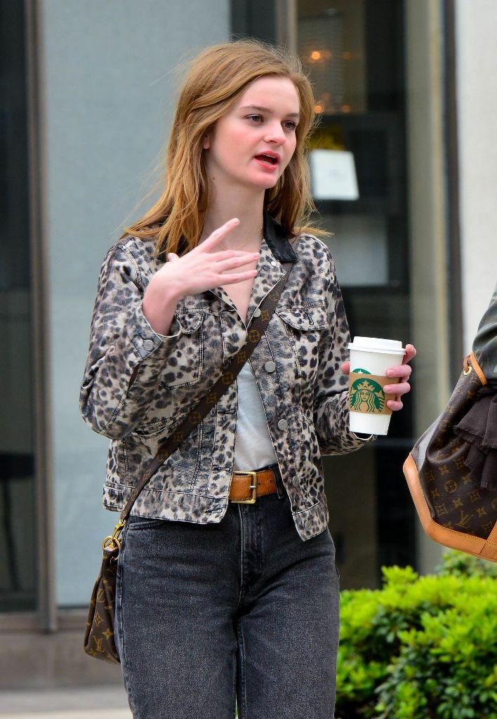 Kerris Dorsey in Leopard Jacket at Beverly Hills