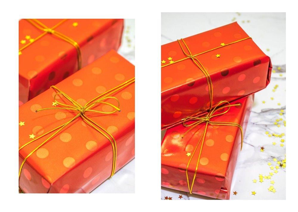 4a jak zapakować prezenty świąteczne w papier  pomysły na pakowanie prezentów jak zapakować pudełko w papier złote czerwone prezenty sposoby na pakowanie prezentów poradnik tutorial jak pakować