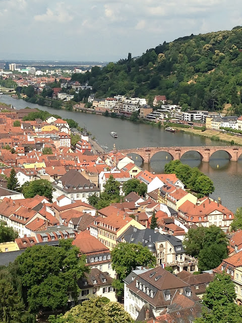 Romantic and historic Old Town Heidelberg