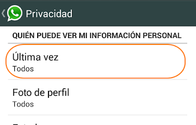 no aparecer visible en whatsapp