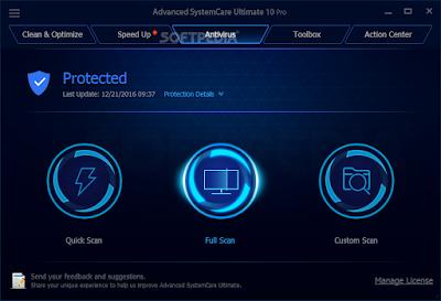 تحمبل وتفعيل برنامج الحماية الكبير  Advanced SystemCare Ultimate 9 لسنة 2017