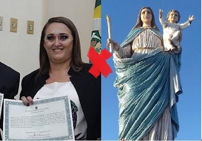 Em Saboeiro-CE, Prefeita Evangélica culpa Santa por falência do município