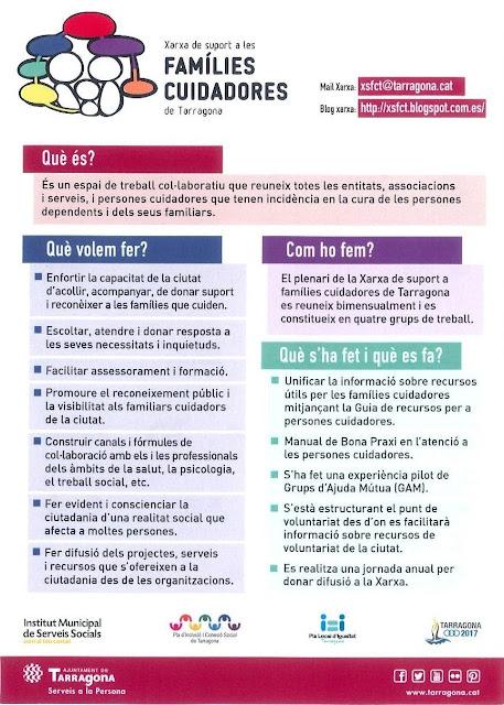 El perquè de la Xarxa de Suport a les Famílies Cuidadores de Tarragona