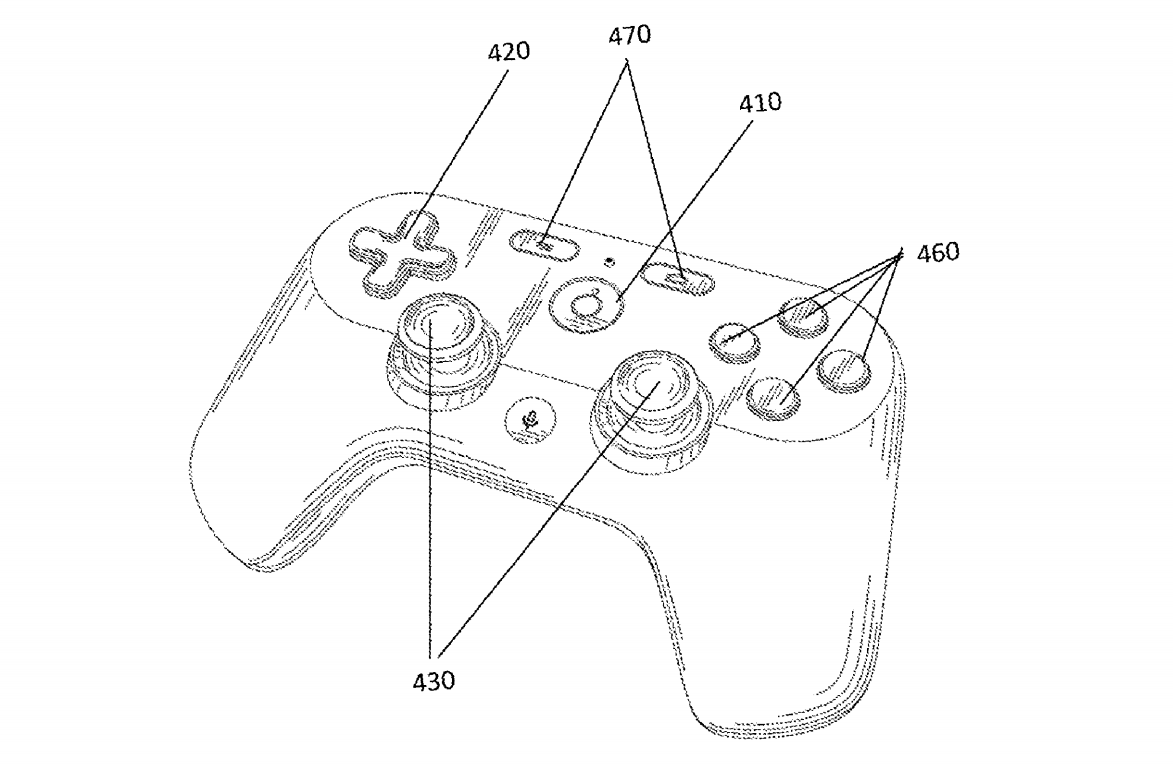 Game Controller from Google Patent