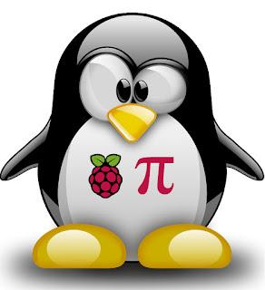 Linux Tux + Raspberry Pi